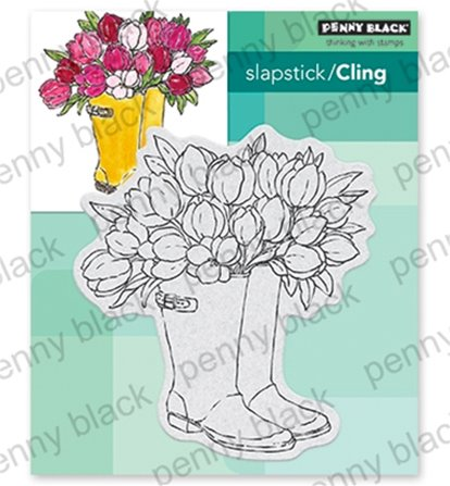 Cling Stamp - Blooming boots