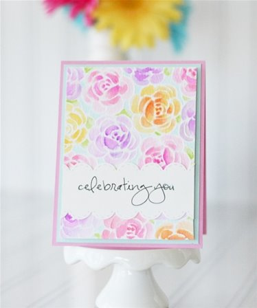 Embossing Folder - Rosy Posey
