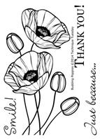 Clear Stamp - Budding Poppies