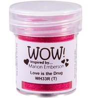 Wow! Embossing Powder - love is the drug