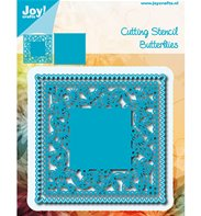 Cutting & Embossing - Square Frame with Butterfly