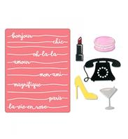 Thinlits & Embossing Folder - Bonjour chic
