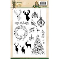 Clear stamp - Christmas in Gold
