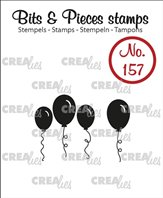 Crealies Clear Stamp - Balloons Solid