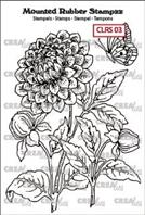 Crealies - Rubber stamp - Dahlia