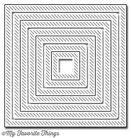 Die-namics - In&Out Diagonal Stitched Square Stax