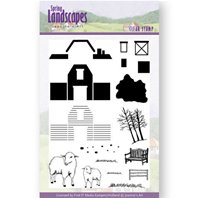 Clear Stamp - Spring Lanscapes - Farm