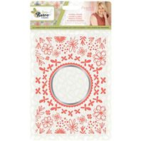 Embossing folder - Sew retro - Floral frame