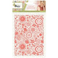 Embossing folder - Sew retro - Doodled blooms