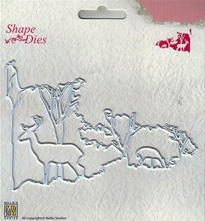 Shape Dies - Christmas Window scene-2