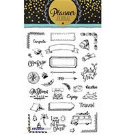 Clear stamps - Planner Journal - Vacances