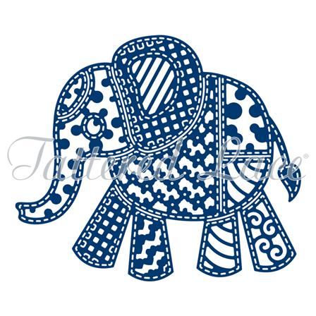 Tattered Lace Die - Patchwork Elephant