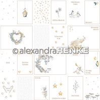 Papier - Xmas - Floral Christmas card sheet yellow