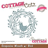 Cottage Cutz - Grapevine Wreath with Bird