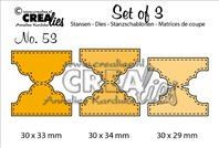 Crealies - Set of 3 - Double Tabs A