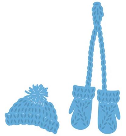 Creatables - Knitted hat & mittens