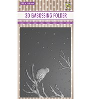 3D embossing Folder - Bird on branch