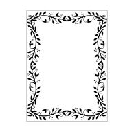 Embossing folder - Leaf border