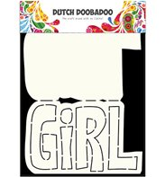 Dutch Card Art - Text Girl