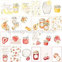 Papier - Card sheet red/orange jam