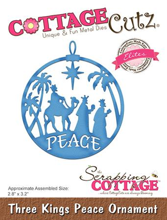 Cottage Cutz -Three Kings Peace Ornament