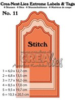 Crea-Nest-Lies Extreme Labels & Tags - Stitched Line