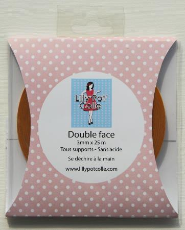 Rouleau double face 3 mm x 25 m - Lilly Pot'Colle