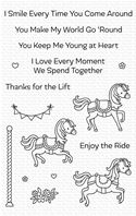 Clear stamps - Carousel Horses