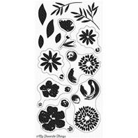 Clear Stamp - Brushstroke Blooms