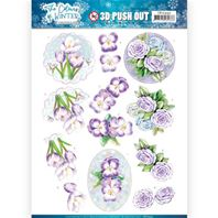 Papier 3D - The Colours of Winter - Purple winter flowers