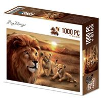 Puzzle - Wild Animals - Lion with cubs
