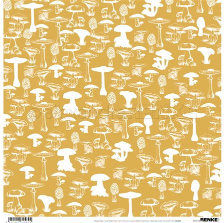 Papier - Autumn Pattern Mushrooms