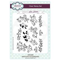 Clear stamp - Flourishes