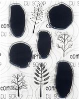 Clear stamps - Arbres abstraits