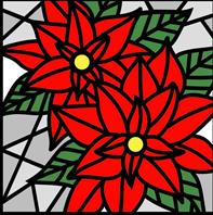 Die - Poinsettia Glass Square