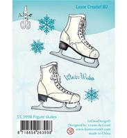 Clear Stamp - Figure skates