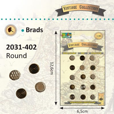 Brads - Vintage Collection - Round