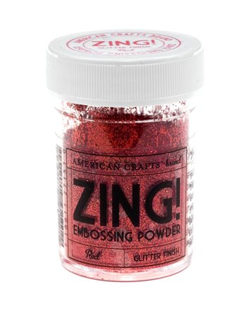 Poudre à Embosser ZING - Red Glitter