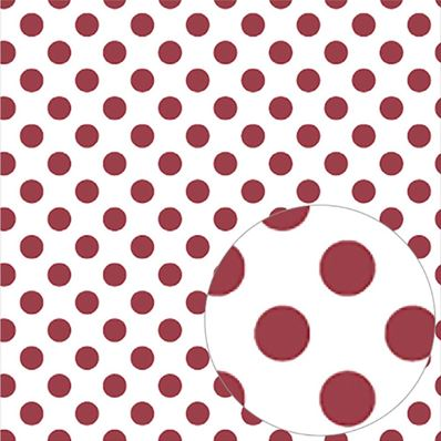 Printed Acetate -Pomegranate Dots