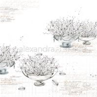 Papier - Willow catkin in bowls