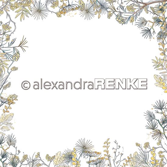 Papier - Xmas - Floral Christmas frame yellow