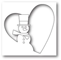 Die - Snowman Heart Collage