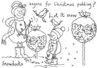 Clear Stamp - Anyone for Christmas pudding