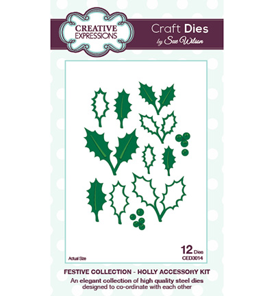 Craft Dies - Festive Collection - Holly Accessory Kit