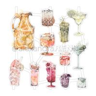 Art Figurine - Colourful Cocktails