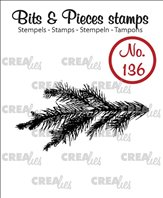 Crealies Clear Stamp - Pine Branch