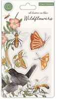 Clear stamp - at home in the Wildflowers - Bees & butterflies