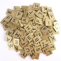 Wooden Letters - gold
