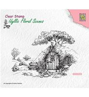 Clear stamp - Scene with old house