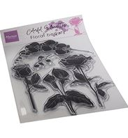 Clear stamp - Colorful Silhouette - Floral Beauty